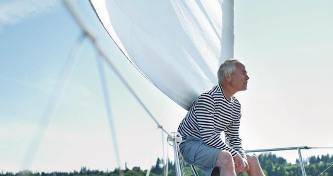 88274167 Sm Senior Man On Yacht