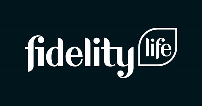 fidelity life logo - night background